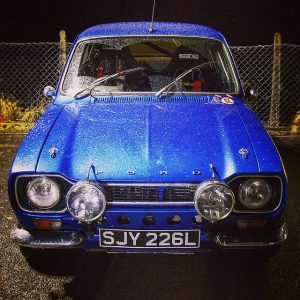 Blue Ford Escort Mark ii