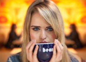 Angel White, professional model - photoshoot in Bean Coffee, 20 Chapel Street