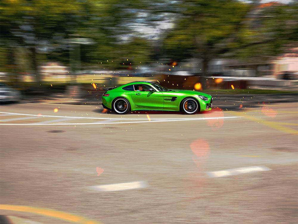 Green Mercedes Benz AMG GT-R Jersey