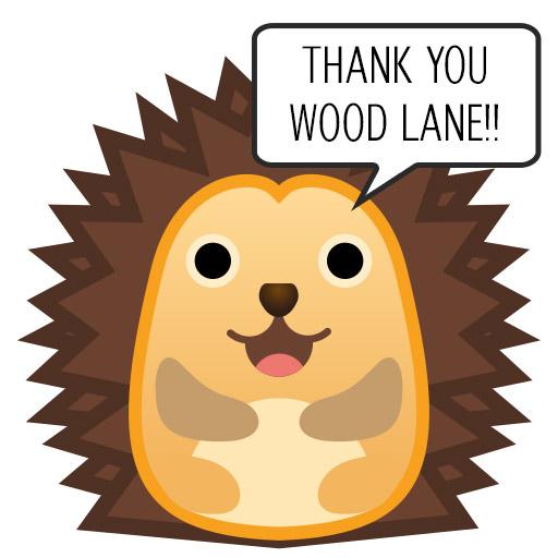 Thank You Wood Lane Harry the Hedgehog