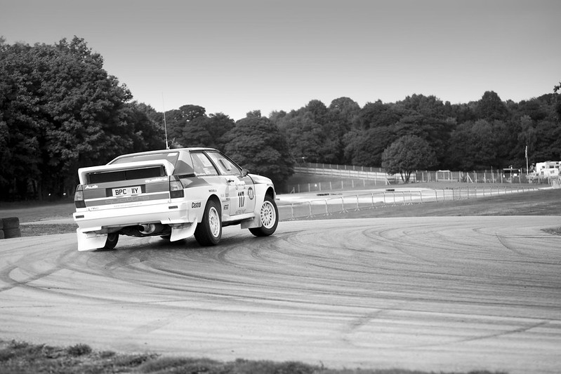 Audi Quattro at Oulton Park Rally Stage