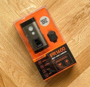 Ravemen PR1600 front light packaging