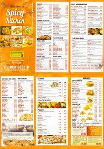 spicy kitchen menu